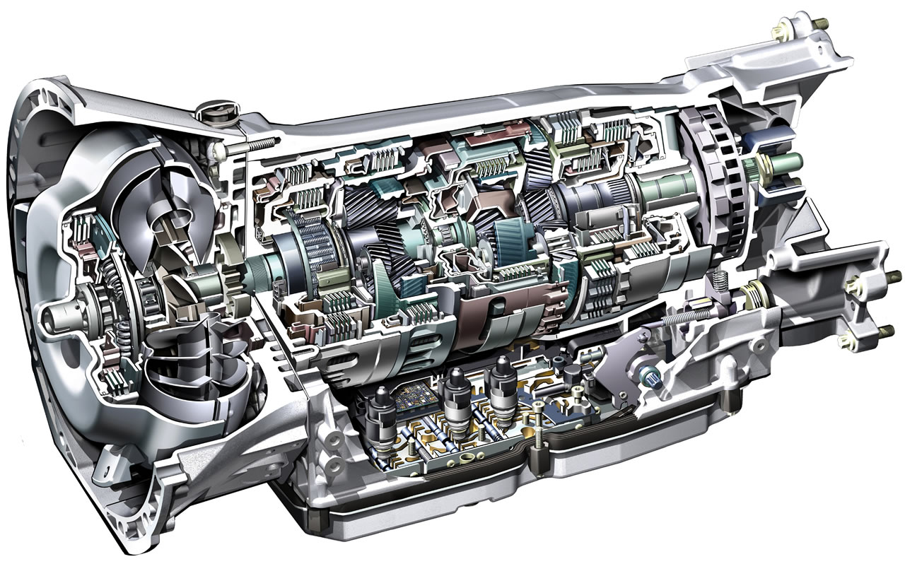 Internal View of a Typical Automatic Transmission